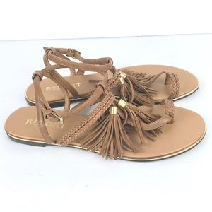 Report Shoes - Womens Tan Citrine Tassel Sandals